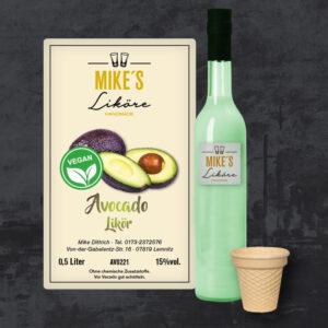 Avocado Likör – vegan