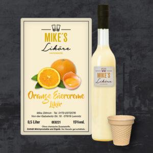 Orangen Eiercreme Likör
