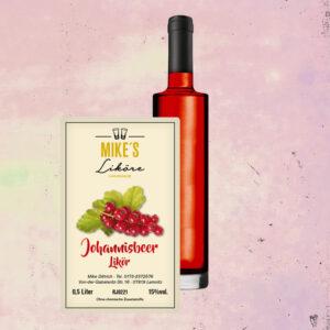 Rote Johannisbeere – Fruchtlikör